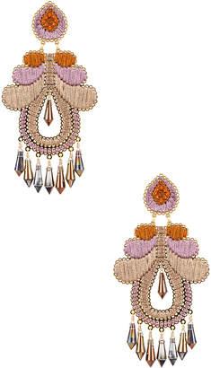 Mercedes Salazar Curubas Earrings in Orange, Pink & Beige | FWRD
