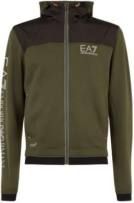 Giorgio Armani Ea7 Logo Arm Zipped Hoodie
