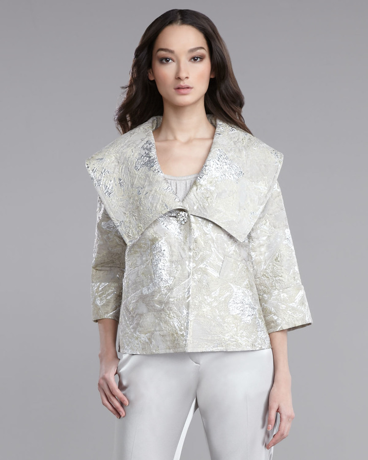 St. John Collection Metallic Brocade Jacket