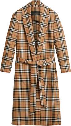 Burberry Checkered Wool Coat