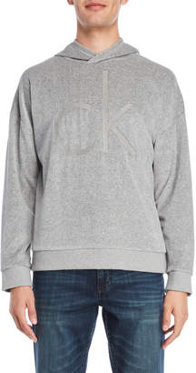 Calvin Klein Jeans Velour Oversized Cocoon Hoodie