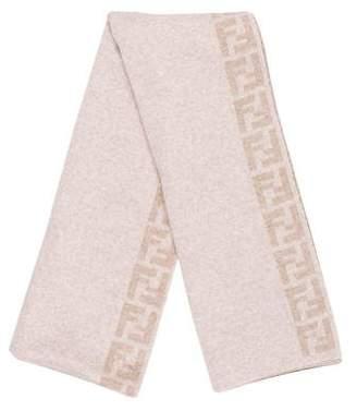 Fendi Wool Zucca FF Logo Scarf w/ Tags
