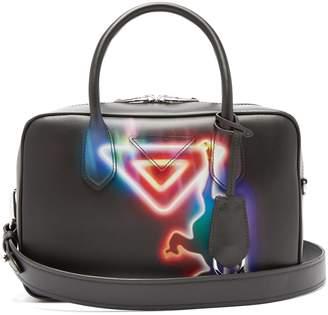 Prada Monkey-print leather bowling bag