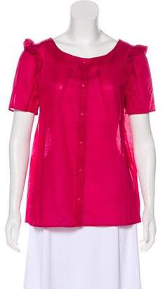 Chloé Short Sleeve Ruffled Top