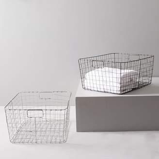 west elm Wire Mesh Storage - Rectangular Basket