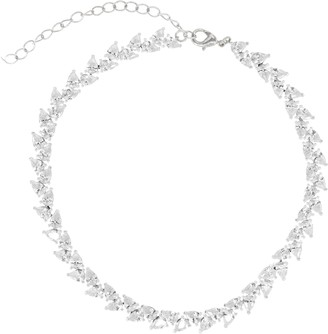 RAGEN Jewels Pear Cut Crystal Choker Necklace