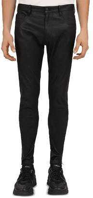 The Kooples Leather Trouser Skinny Fit Jeans in Black