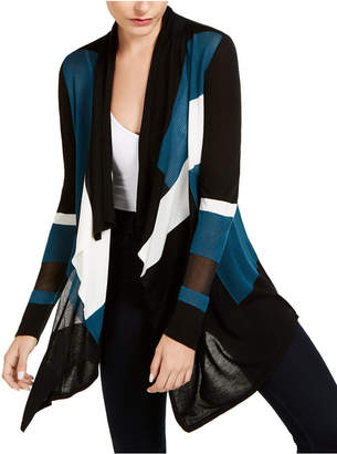INC International Concepts Inc Colorblocked Waterfall Cardigan