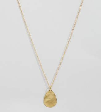 Ottoman Hands Gold Plated Teardrop Pendant