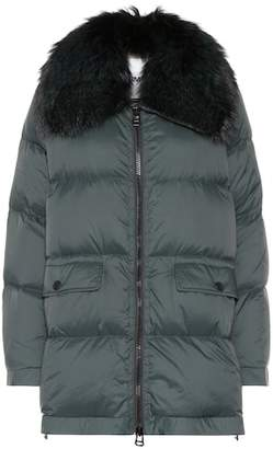 Yves Salomon Army Fur-trimmed down jacket