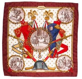 Hermes Napolean Silk Jacquard Scarf