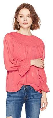 Ella Moon Women's Briteny Smocked Gathered Sleeve Top