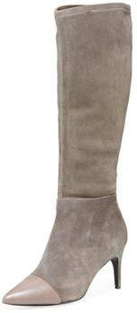 Charles David Parish Tall Stretch-Suede Boots