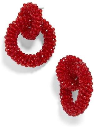 BaubleBar Emina Beaded Hoop Earrings