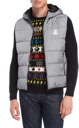 Love Moschino Quilted Hooded Puffer Vest