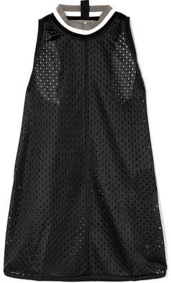 adidas by Stella McCartney Train Ribbed Knit-trimmed Climalite Mesh Tank - Black