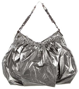 Marc JacobsMarc Jacobs Metallic Snakeskin-Trimmed Bag