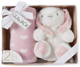 Baby Essentials Lila & Jack Two-Piece Bunny Plush Toy & Blanket Gift Set