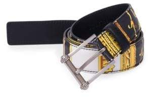 Versace Saffiano Leather Belt