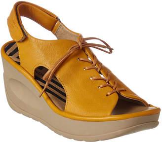 Fly London Jart Leather Wedge Sandal