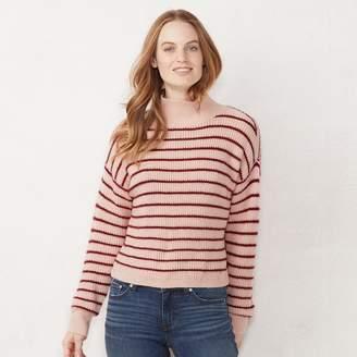 Lauren Conrad Women's Striped Funnelneck Sweater