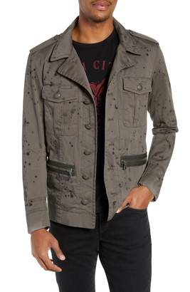 John Varvatos Ink Stained Officer Field Jacket