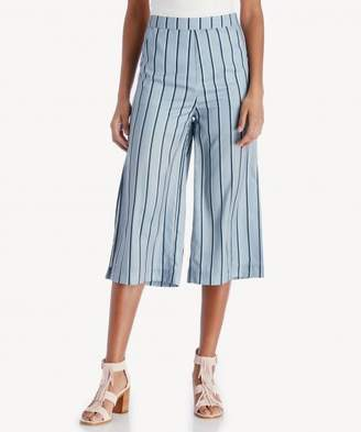Sole Society Wide Leg Pants With Side Slit