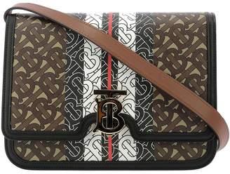 Burberry Monogram Striped Shoulder Bag