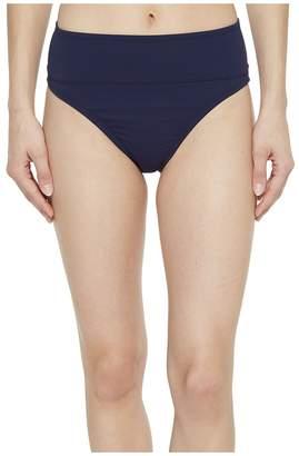 Tommy Bahama Pearl Wide-Band High-Waist Bikini Bottom Women's Swimwear