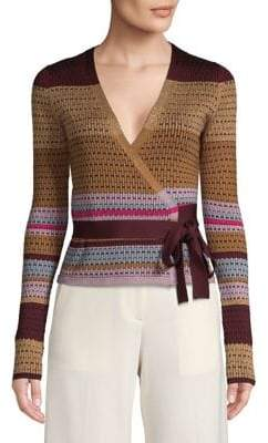 Diane von Furstenberg Textured Wrap Sweater
