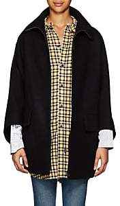 Yohji Yamamoto Regulation Women's Wool Melton Oversized Cape - Black