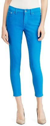 Lauren Ralph Lauren Colored Skinny Crop Stretch Jeans $89.50 thestylecure.com