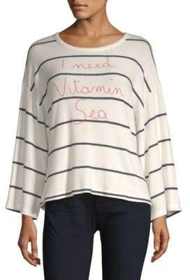 Sundry Vitamin Sea Stripe Long-Sleeve Tee