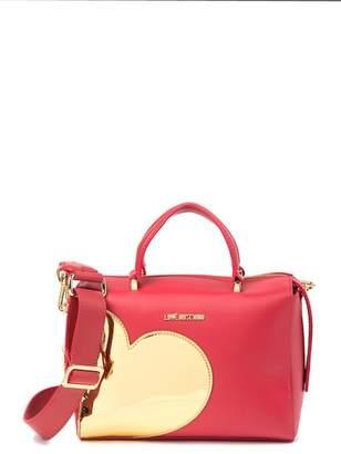 Love Moschino Gold Heart Zip-Top Shoulder Bag