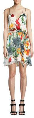 Alice + Olivia Susana Floral Faux-Wrap Dress