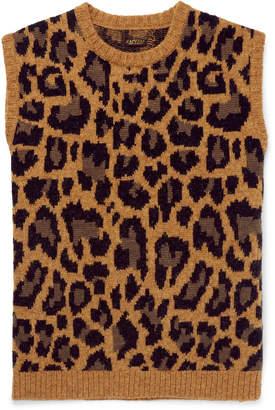 KAPITAL - Leopard-Jacquard Wool-Blend Sweater Vest