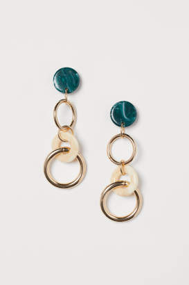 H&M Long Earrings - Green