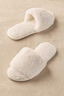 Soft Surroundings Fab Faux Fur Slipper Slides