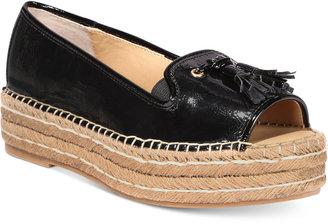 Adrienne Vittadini Parke Platform Sandals $79 thestylecure.com
