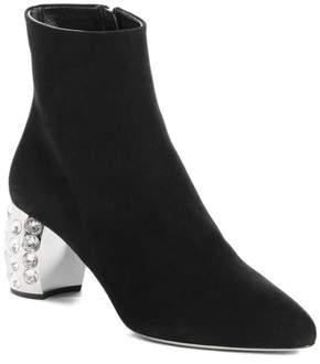 Women's Miu Miu Embellished Block Heel Boot
