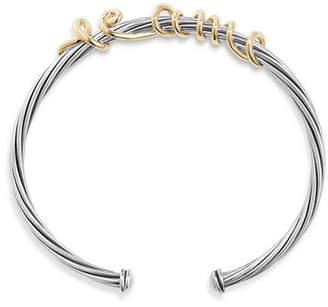 David Yurman Te Amo Wire Message Bracelet