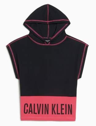 Calvin Klein girls intense power sleeveless hoodie