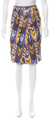 Tory BurchTory Burch Printed Knee-Length Skirt w/ Tags