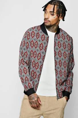 boohoo Aztec Print Bomber Jacket
