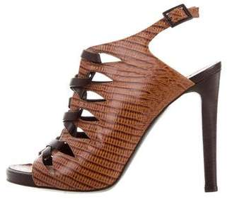 Proenza Schouler Embossed Lace-Up Sandals
