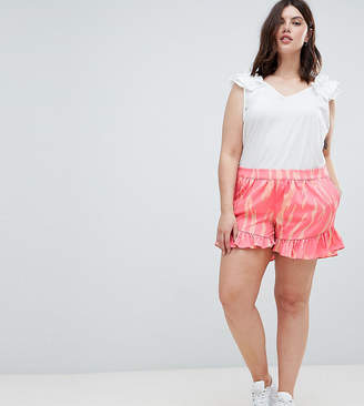 Junarose Printed Short With Ruffle Hem