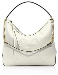Gucci GG-Embossed Leather Hobo Bag