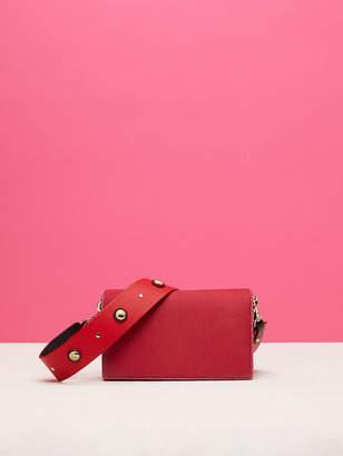Diane von Furstenberg Soiree Velvet Crossbody Bag