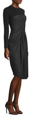Max Mara Pinstripe Bodice Dress