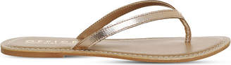 Office Stix metallic-leather sandals